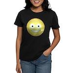 Candy Smiley - Yellow Women's Dark T-Shirt