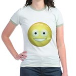 Candy Smiley - Yellow Jr. Ringer T-Shirt