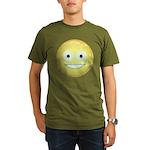 Candy Smiley - Yellow Organic Men's T-Shirt (dark)