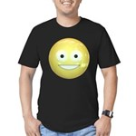 Candy Smiley - Yellow Men's Fitted T-Shirt (dark)