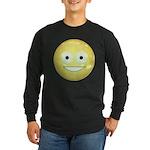 Candy Smiley - Yellow Long Sleeve Dark T-Shirt