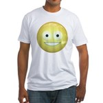 Candy Smiley - Yellow Fitted T-Shirt