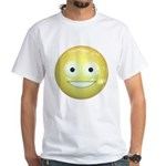 Candy Smiley - Yellow White T-Shirt