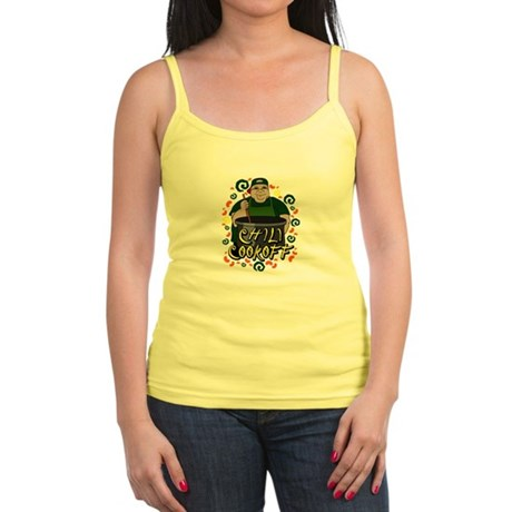 Man in Apron green Chili Cookoff Graphic Tank Top