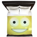 Candy Smiley - Yellow King Duvet