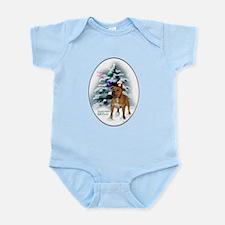 Staffordshire Terrier Christmas Infant Bodysuit