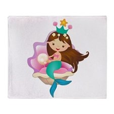 Princess Mermaid Throw Blanket