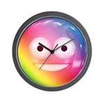 Candy Smiley - Rainbow Wall Clock