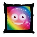 Candy Smiley - Rainbow Throw Pillow
