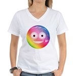Candy Smiley - Rainbow Women's V-Neck T-Shirt