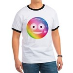 Candy Smiley - Rainbow Ringer T