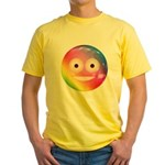 Candy Smiley - Rainbow Yellow T-Shirt