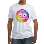 Candy Smiley - Rainbow Fitted T-Shirt