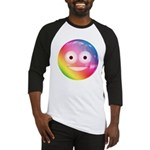 Candy Smiley - Rainbow Baseball Jersey