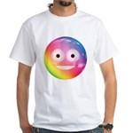 Candy Smiley - Rainbow White T-Shirt