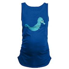 Blue Seahorse Maternity Tank Top