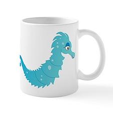 Blue Seahorse Mug