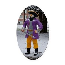 Snow Pirate Oval Car Magnet