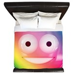 Candy Smiley - Rainbow King Duvet