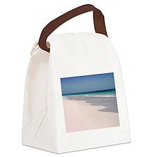 Pink Sands Beach Canvas Lunch Bag