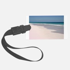 Pink Sands Beach Luggage Tag