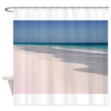 Pink Sands Beach Shower Curtain