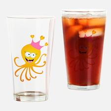 Octopus Princess Drinking Glass