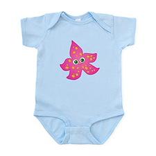 Cute Pink Starfish Infant Bodysuit
