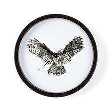 Striking Hunting Watercolor Owl Logo Wall Clock