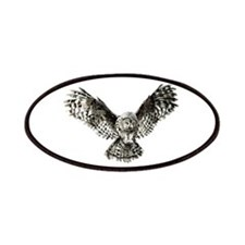 Striking Hunting Watercolor Owl Logo Patches