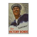 Gangway Victory Bonds Mini Poster Print