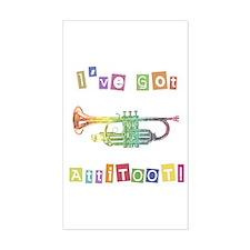 Trumpet Attitude Rectangle Decal