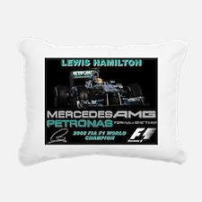 Lewis Hamilton  Rectangular Canvas Pillow