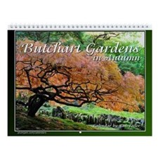 Butchart Gardens In Autumn Wall Calendar