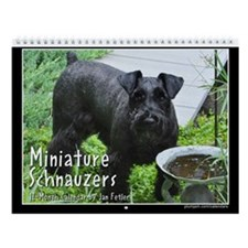 Miniature Schnauzers 12 Month Wall Calendar
