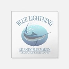 Blue Lightning Sticker