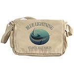 Blue Lightning Messenger Bag