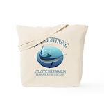 Blue Lightning Tote Bag