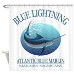 Blue Lightning Shower Curtain