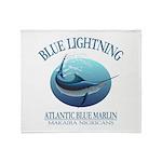 Blue Lightning Throw Blanket