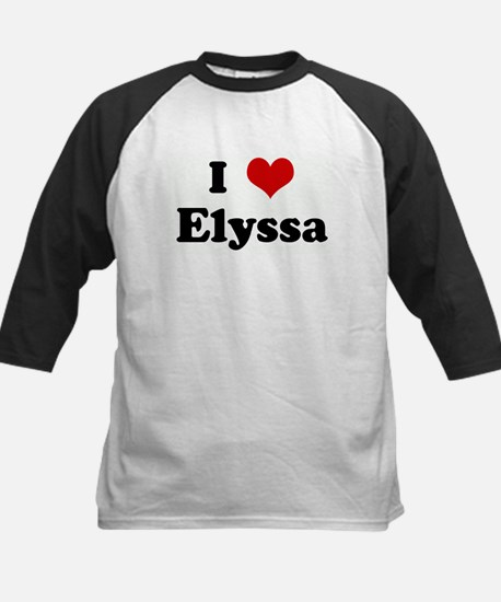 I Love Elyssa Kids Baseball Jersey