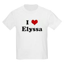 I Love Elyssa Kids T-Shirt