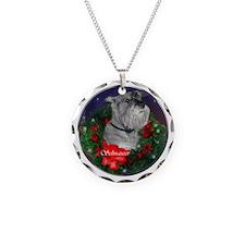 Standard Schnauzer Christmas Necklace