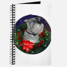 Standard Schnauzer Christmas Journal