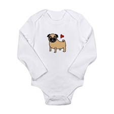 Fawn Pug Love Body Suit