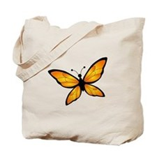 Orange & Black Butterfly Tote Bag