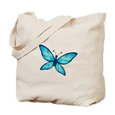 Blue Tones Butterfly Tote Bag