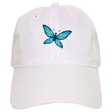 Blue Tones Butterfly Baseball Cap