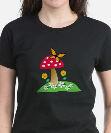Toadstool w/ Orange Butterfly Tee