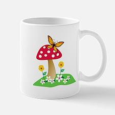 Toadstool w/ Orange Butterfly Mug